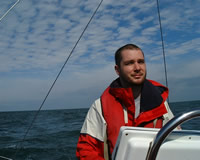 Marcus at the helm