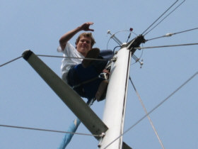 Tim up the mast