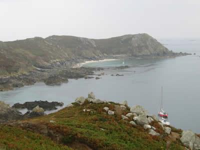 Barnacle Bill anchored off Iles de Sept