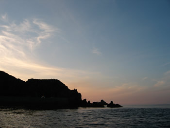Our anchorage on the isle of Sark