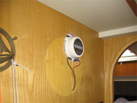 Exposed external speakers had custom cases made with wicker fronts...