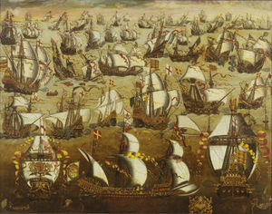 Spanish Armada leave Ferrol in 1588