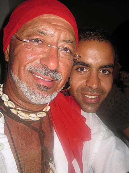 Ilkin with his son, Deniz, getting into the party spirit at the Kuzay Kibris Pirate party. Deniz is following in his father's footsteps by taking an MSC in Marine Engineering at Glasgow, UK. <br>Source: Ilkin Kalibcioglu