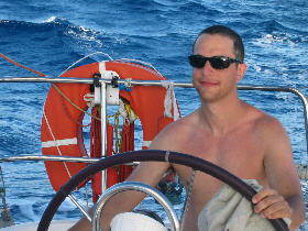 Michel at the helm