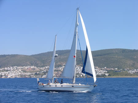 Esper with Bodrum in the background