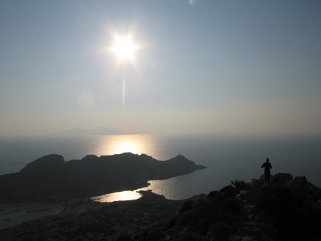 Looking south from the top of Knidos