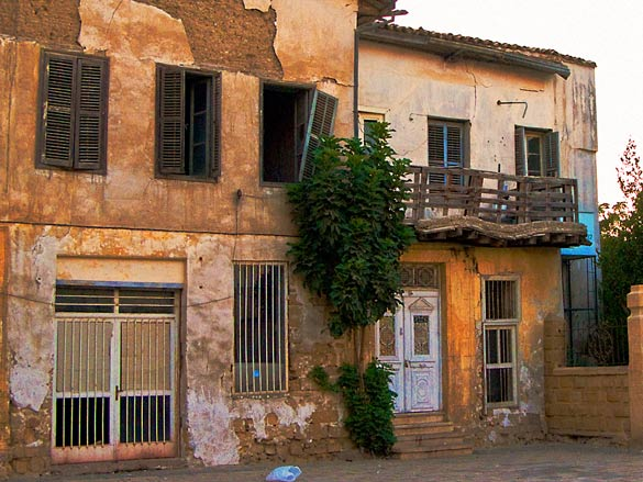 With no money to invest there are many buildings like this on the north side of the capital. And this is in better condition than some of the inhabited buildings.