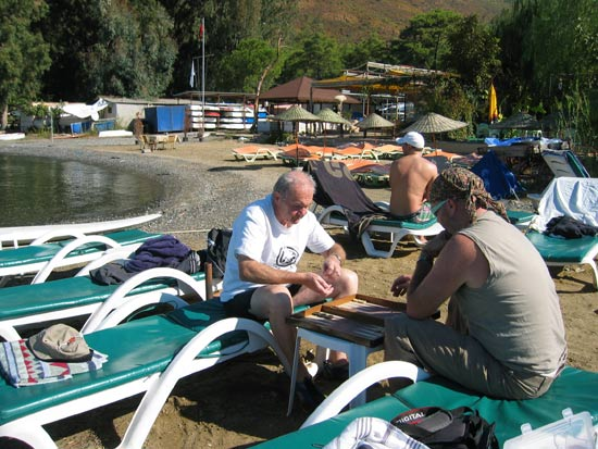 Backgammon on Orange Bar beach Source: M&L Furlong