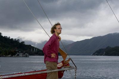 Sam aboard s/y 'Cindik'