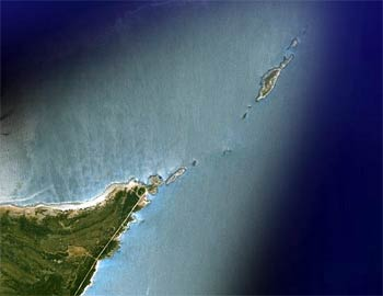 Yes, it looks obvious from up here, but when you're down there at sea level...