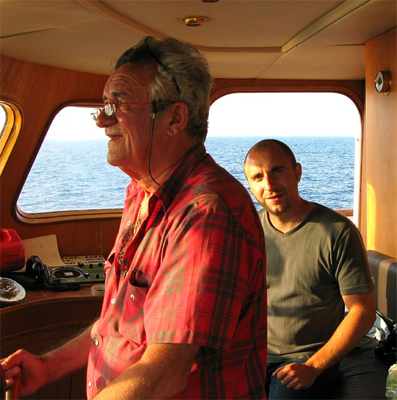 """""""Er, skipper, isn't it your turn to clean the heads?"""", questions the deckhand."""