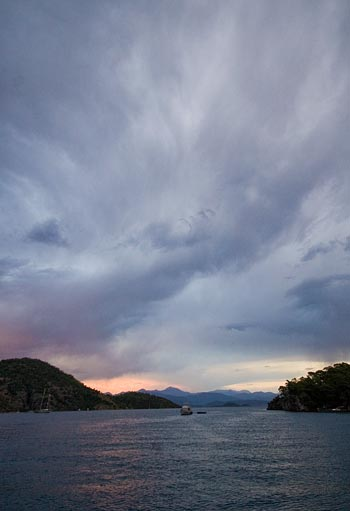 Storm brewing over Gocek