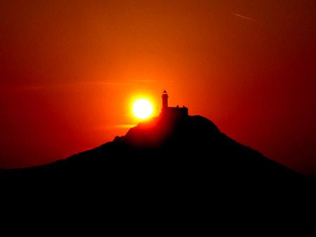 The sun finally sets across Knidos