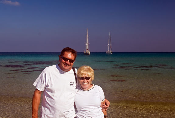 Trish and Jim of 'Dragon Song', friends we had met in Marmaris Yacht Marina last year. They invited us to Cyprus to join them on the rally and, on a whim, we accepted.