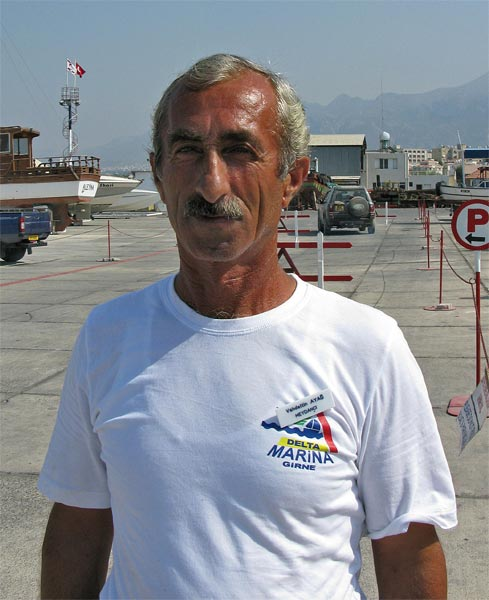 Should any of you visit Delta Marina, look out for this man, Vahdettin. Despite not speaking much English he will attend to your every need, from escorting you to custom and passport control, to cleaning the rubbish and unlocking the laundry room. I never saw him leave the  marina - I think he lives there and works 20 hours a day, seven days a week. Top man!