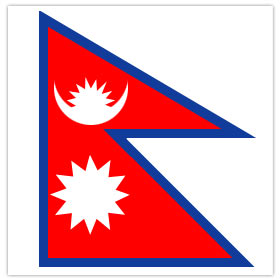 The home made-y Nepalese flag