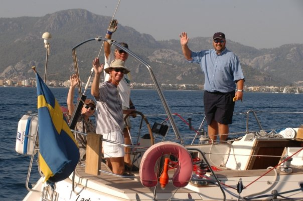 Ed, Christer and Gary in the Bodrum Regatta
