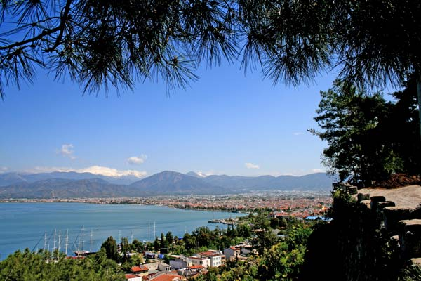 View across Fethiye bay from our walk