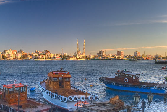 View towards Port Fouad from Port Said