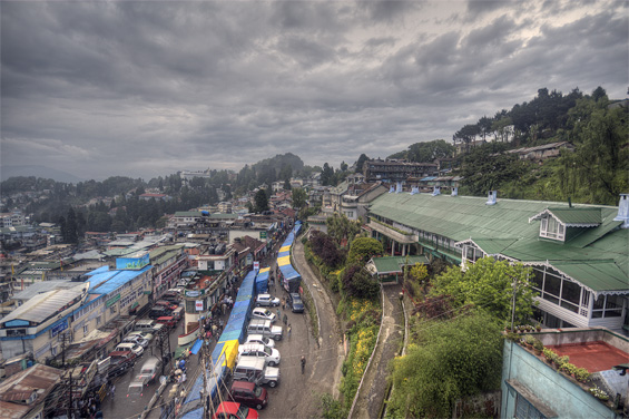 View from Dekeling hotel, Darjeeling