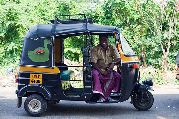 Nazer '72' in his rickshaw, ZamZam