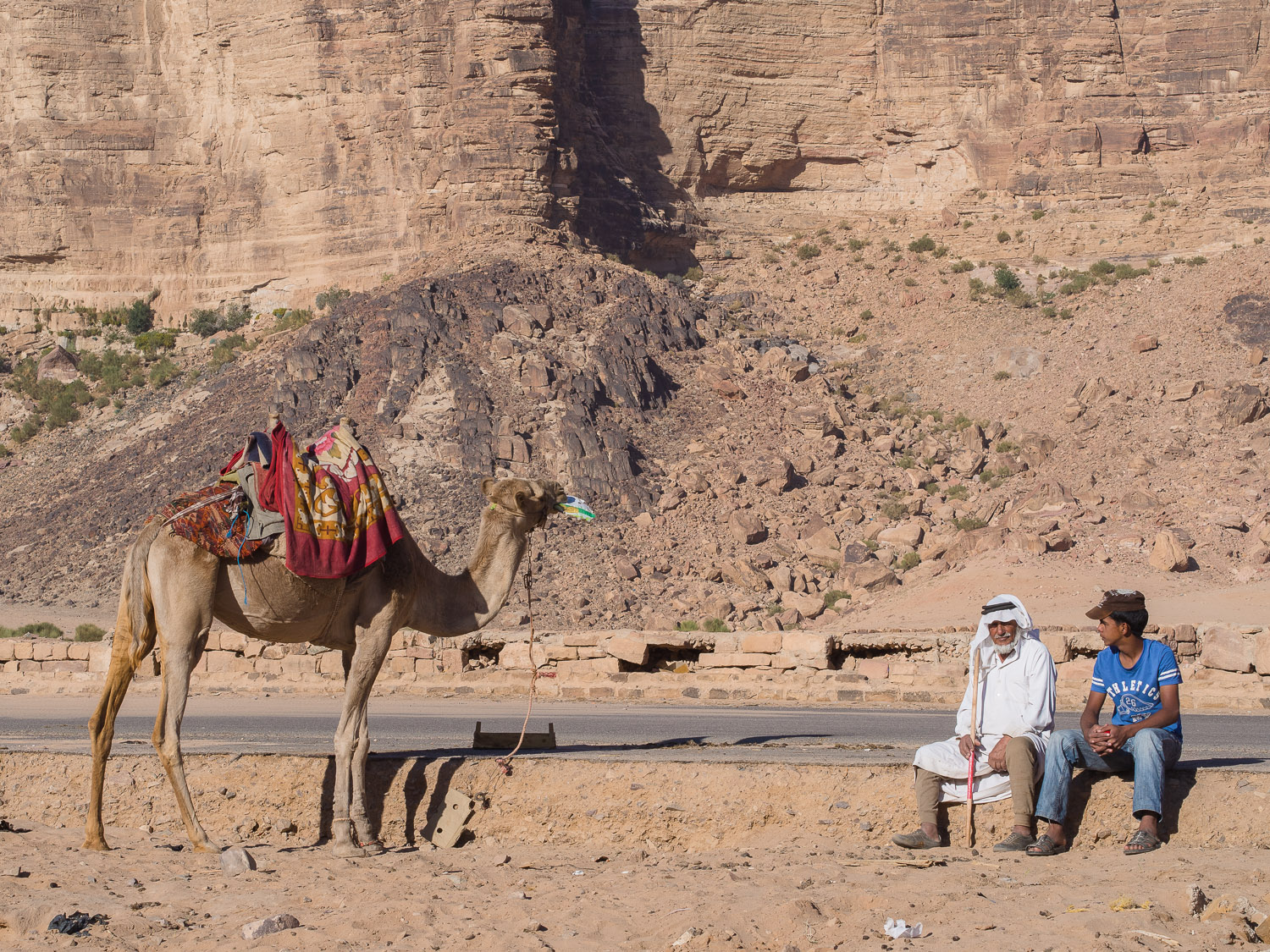 The people, the landscape, the camels