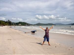The beach at Pantai Chenang