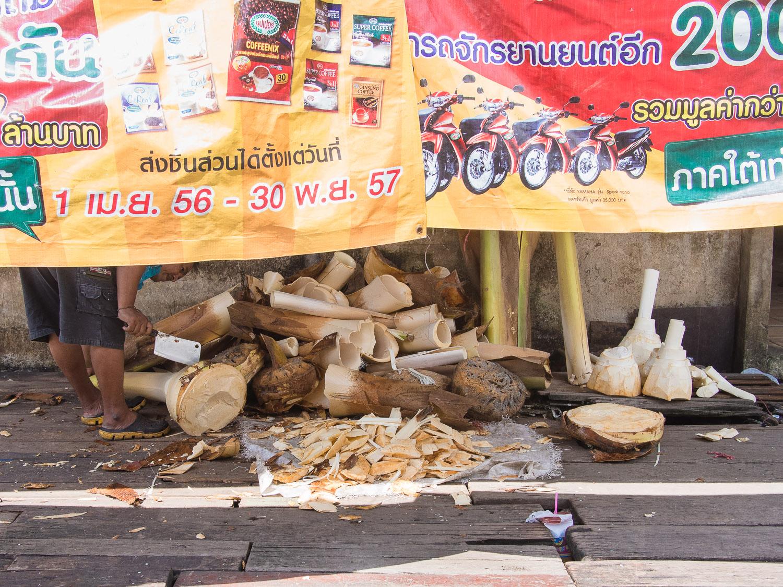 Chopping up stuff in Satun, Thailand
