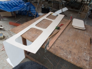 Cupboard doors cut out and ready for gluing