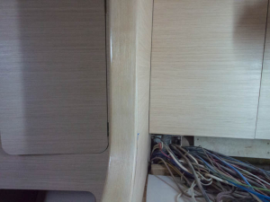 OLYMPThe solid ash, centre, has one coat of polyurethene applied and is a better match with the rest of the veneer