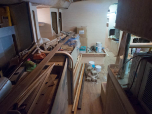 Interior looking down the galley