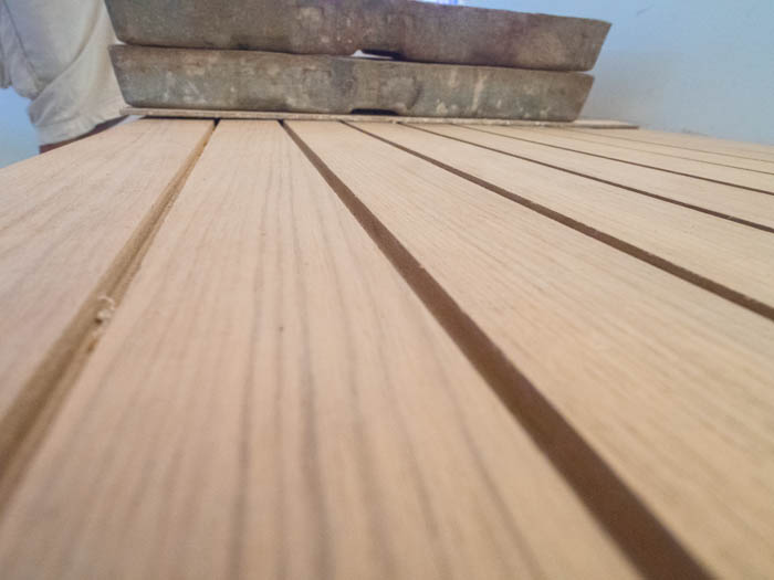 Detail of teak deck