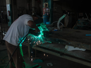 Yoong of PSS Satun doing some aluminium welding