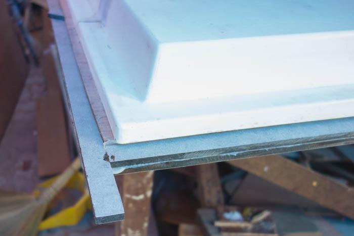 Fridge door is lined with Wilson Art 8mm laminate