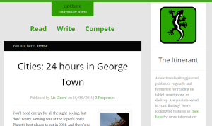 lizcleere.com revamped travel writing website