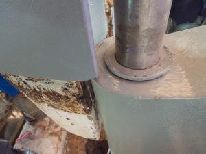 The rudder no longer fits the skeg