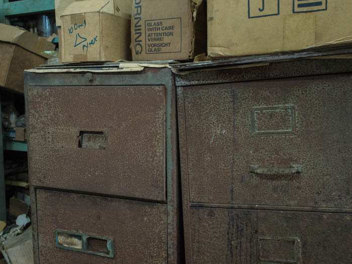 Rusty filing cabinets