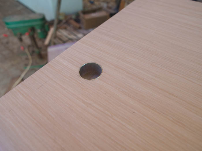 Metal inserts in cupboard doors