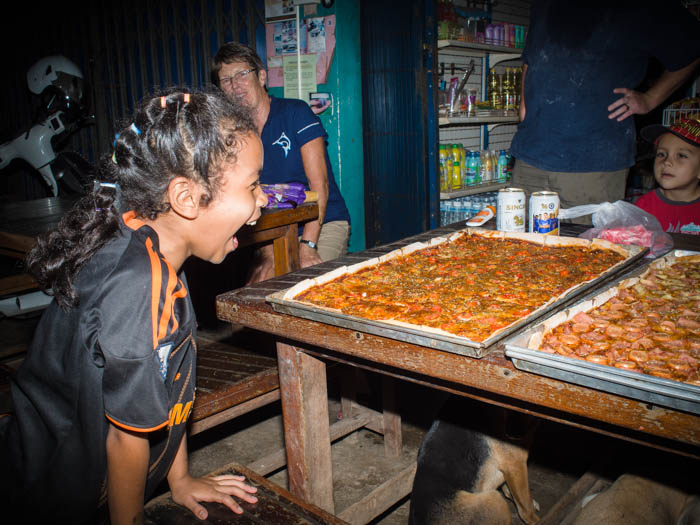 PIzza supplied by Bobby's Pizza of Satun