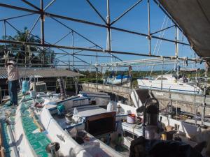 Tent down in PSS Boatyard