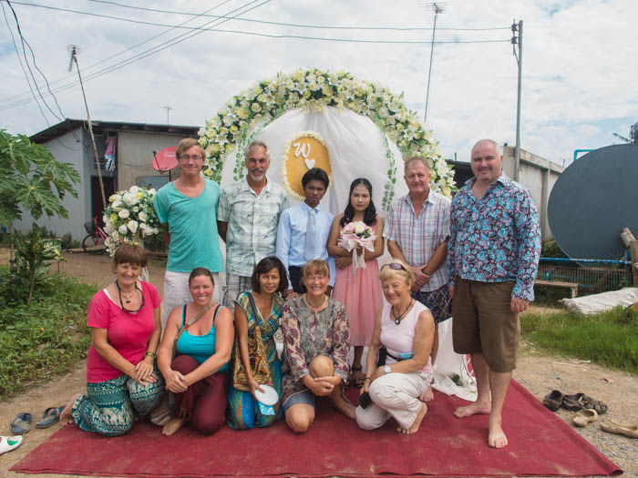 Yachties attend a Burmese wedding