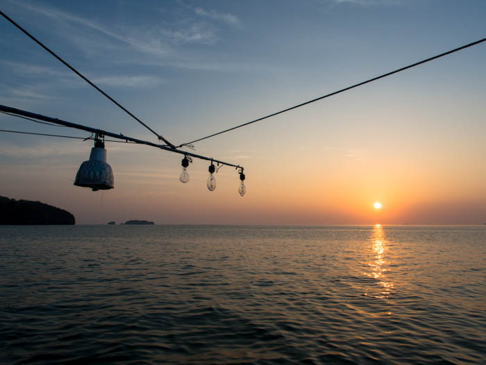 Squid fishing in Thailand