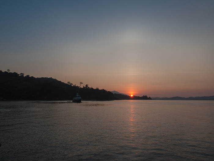 Sunrise at Telaga anchorage