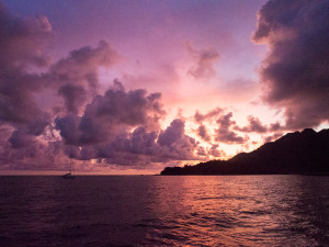 Sunset by Telaga anchorage, Malaysia Langkawi