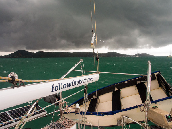 Dark clouds in Ao Chalong