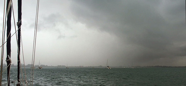 Ao Chalong south west monsoon squall approaching