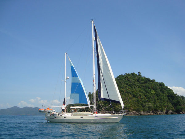 Sailing in to Buffalo Bay, Koh Phayam