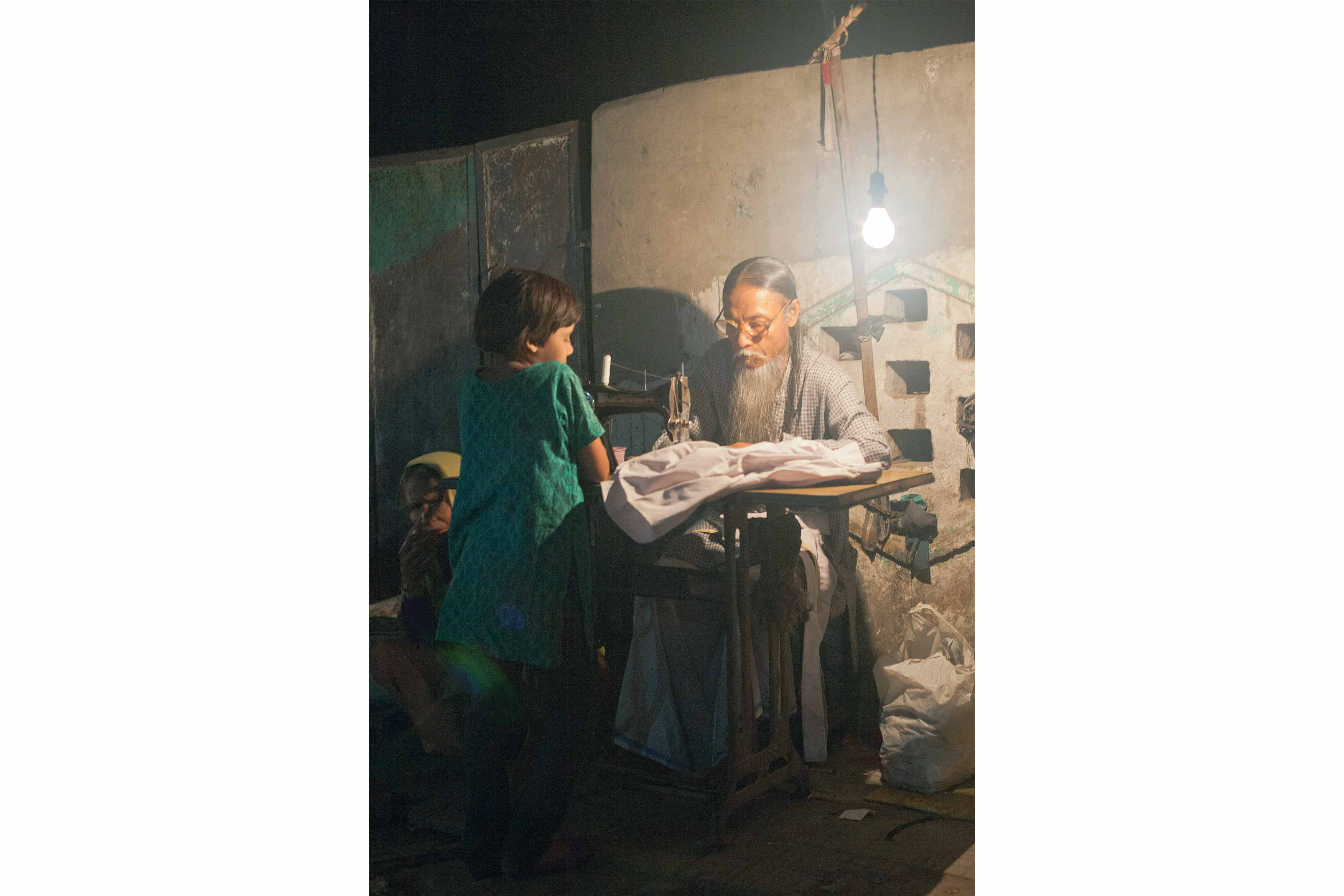 Street tailor, Delhi - commended in the Sony World Photography low-light category (2012)
